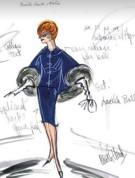 edith head costume design for lucille ball costume