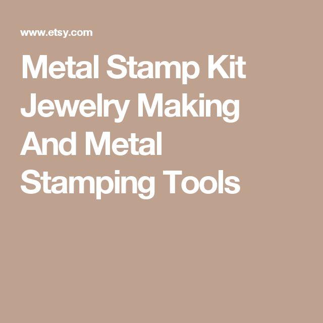 Metal Stamp Kit Jewelry Making And Metal Stamping Tools