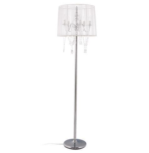 Crystal drop chandelier floor lamp