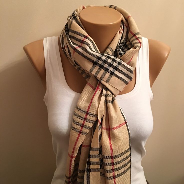 A personal favorite from my Etsy shop https://www.etsy.com/listing/258488598/stripe-beige-scarf-brown-scarfwomens