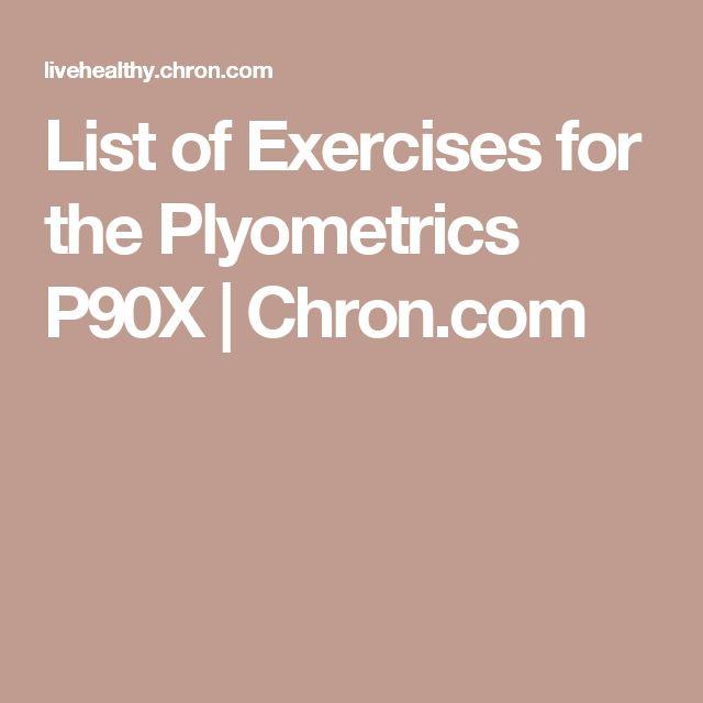 List of Exercises for the Plyometrics P90X   Chron.com