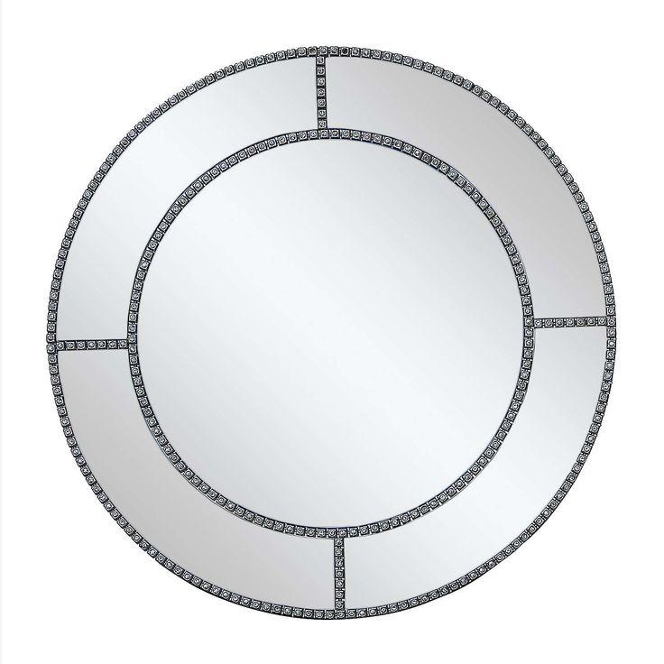 Diamante Round Mirror 60cm Dia Silver Dunelm Hanging Mirror Mirror Dunelm Ornate Mirror