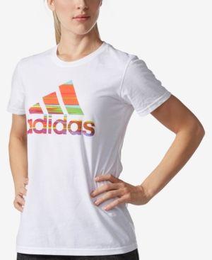 adidas ClimaLite Printed-Logo T-Shirt - White XL