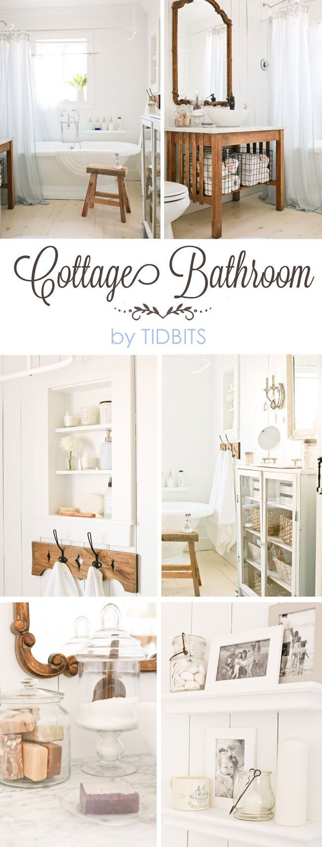 Bathroom Makeovers Country Style best 25+ cottage bathrooms ideas on pinterest | farmhouse bathroom