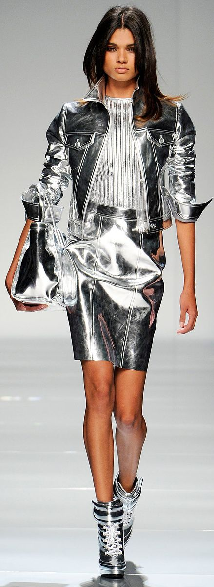 Dark Silver Metallics from Blumarine :: Fall Ready To Wear 2012   The House of Beccaria