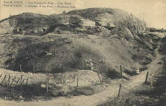 WWI, 1916, Trenches of Fort de Vaux, Verdun.