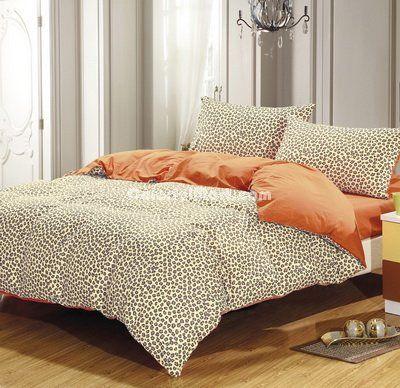 Style Orange Cheetah Print Bedding Sets - $109.99 : Colorful Mart, All for Enjoyment