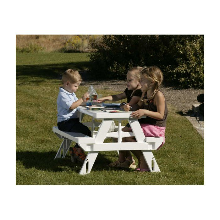 This Kids Rectangular Picnic Table is a great choice for your backyard. This rectangle-shaped picnic table makes for a great spot for your kids to work on craft projects or spend time in the evening with some snacks. It is specially designed for outdoor use and has excellent fade-resistant properties. It is burnished with a white finish and features sturdy plastic construction that ensures years of utility. This table is suitable for kids in the age group of two to eight years. The Kids…
