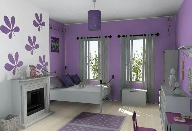 Ložnice * fialová - moderní styl