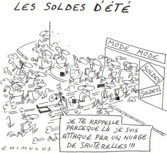 un ancien dessin pour patienter.... shopping , soldes , soldes été , Economie , Conso LePost par Chimulus 30/06/2010