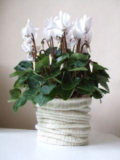 MOS MEA: Copri vaso in lana: come riciclare vecchi maglioni...