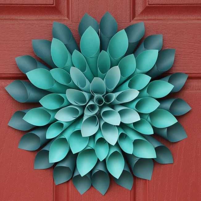 Paper Dahlia Flower Wreath SK This paper flower is 3D and its colourful and really stands out.