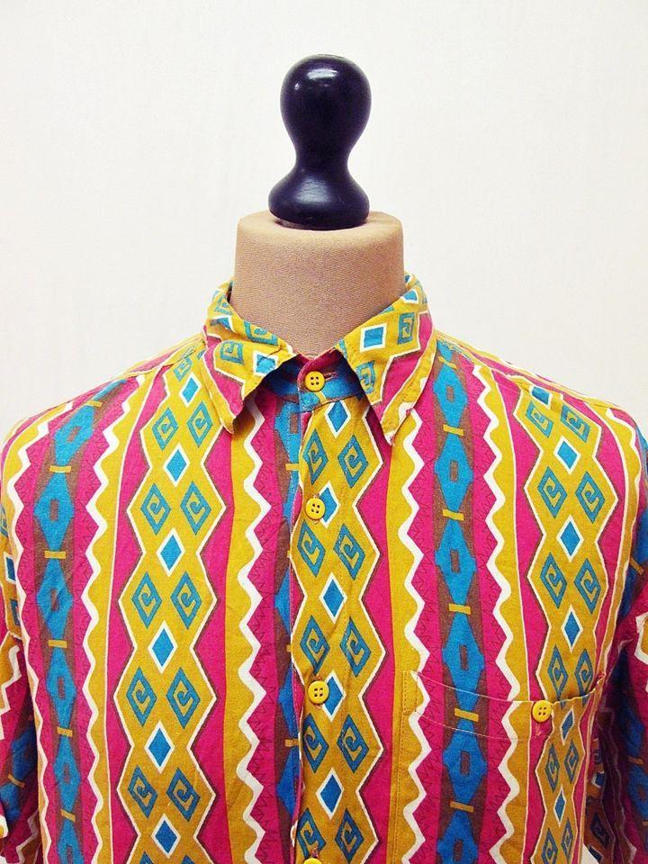 Vintage #1990s Crazy Pattern Geometric Fresh Prince Shirt XL