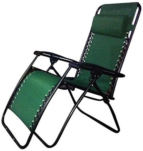 Folding Garden Chair Reclining Weather Proof Sturdy Outdoor Patio Camping  Green http//www