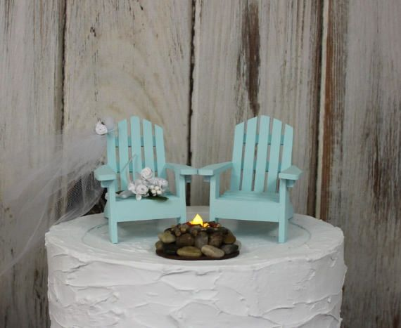 Beach Wedding Cake Topper Adirondack Theme Childs Chair His And Hers