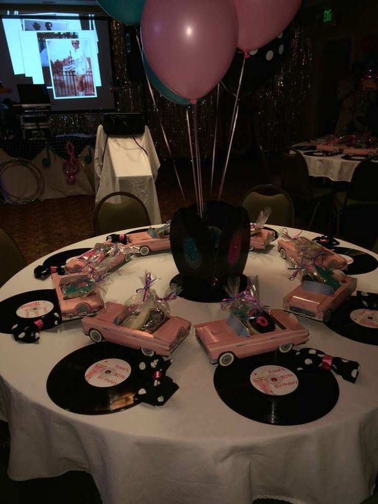 Lovely 50u0027s Theme Sock Hop Birthday Party Ideas