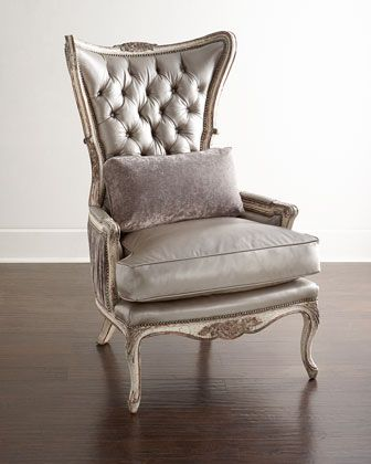 Jeraldine Leather Chair by Old Hickory Tannery at Neiman Marcus.