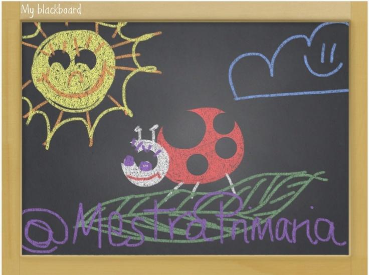 My Blackboard es una #guappis para iOS con la que usar la típica pizarra de toda la vida y escribir o dibujar en ella con tizas de colores, este ejemplo lo hizo nuestra compañera y le quedo muy chuli, es toda una artista. :D