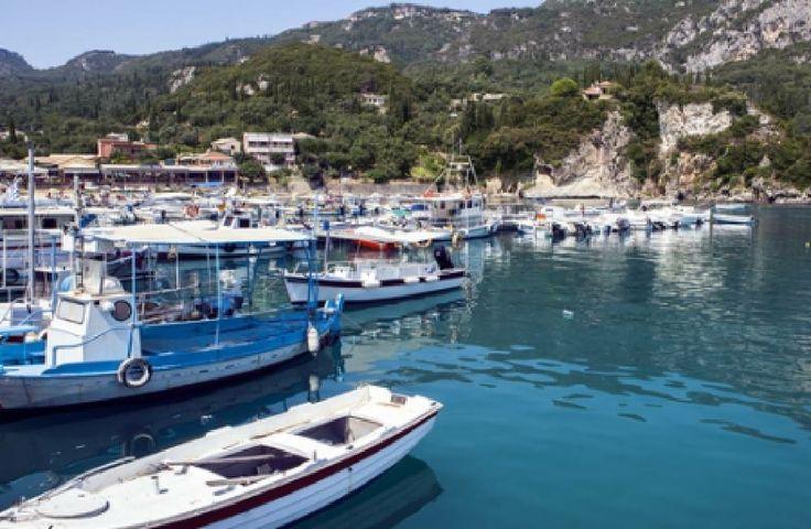 Roda Harbour Roda Corfu Greece