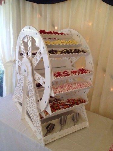 ADD diy <3 <3 www.customweddingprintables.com ...ferris wheel sweet buffet