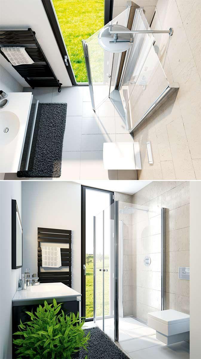 Folding Door Shower 15 Examples Of Design Hsk Shower Folding Doors Design Doors Examples Folding Shower Falttur Dusche Dusche Kleine Gaste Wc