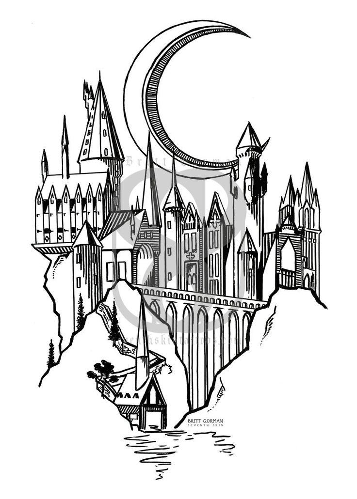 Etsy Magic Castle Print In 5x7 10 Tattoo In 2019