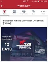 GOP launches RNC 2016 app The official app of the Republican National Convention provides a live stream of the event, speakers and maps around Cleveland.