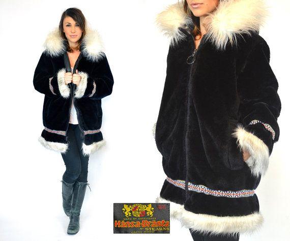 hänsabränta GOOSE DOWN eskimo anorak parka by discoleafvintage, $175.00
