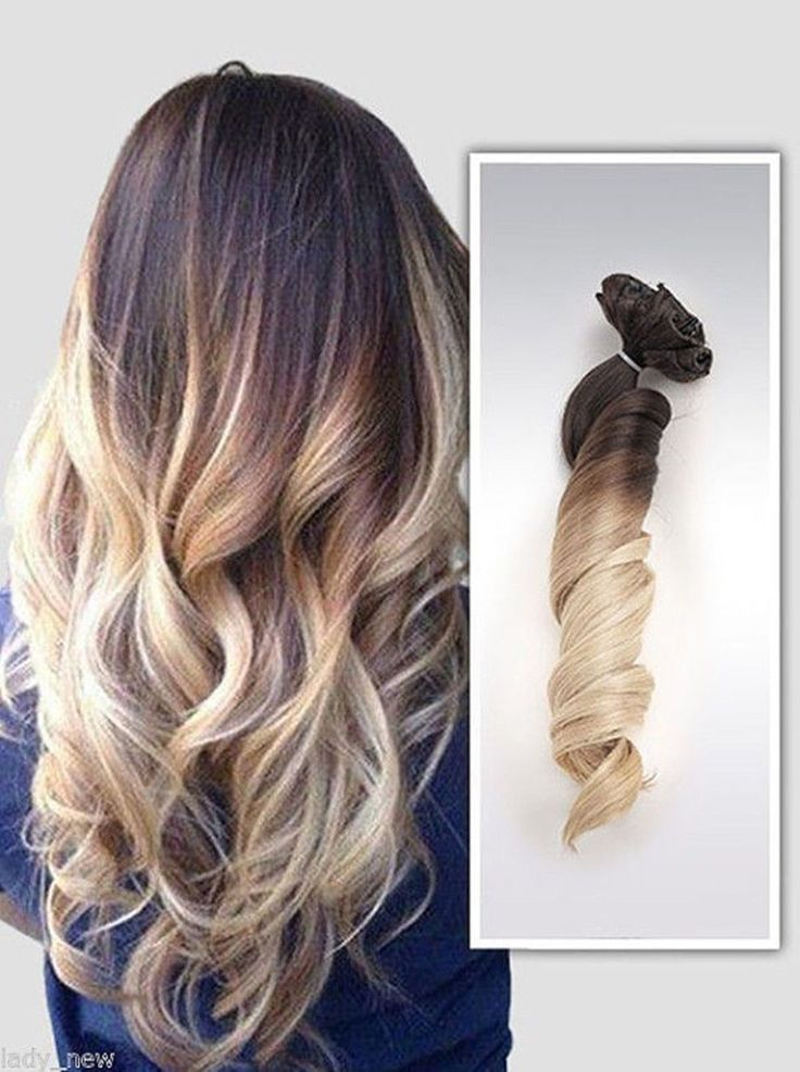 6A Remy Clip In 100% Real Human Hair Extensions Ombre Clip-In Hair Extension 7Pc