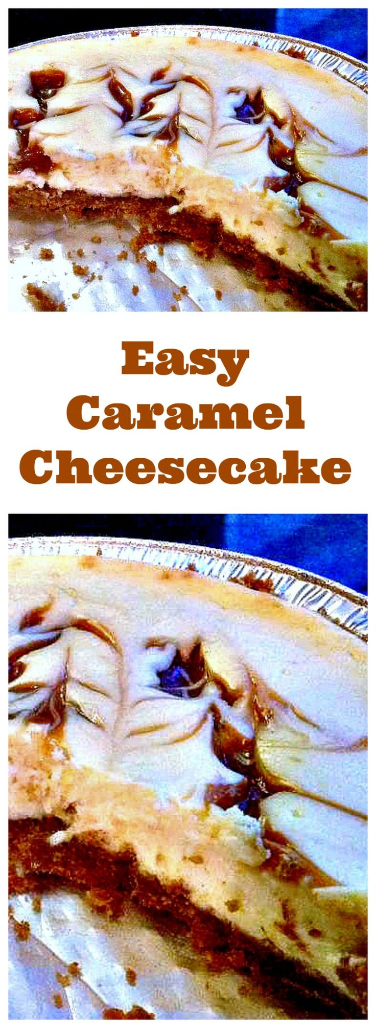 A Wonderful Baked Vanilla Cheesecake With Ripples Of Caramel Though Out Easy Recipe And Always A Hit
