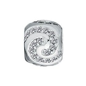 Lovelinks® by Aagaard - Sterling Silver Celebration Bead with CZ Crystals For Charm Bracelets