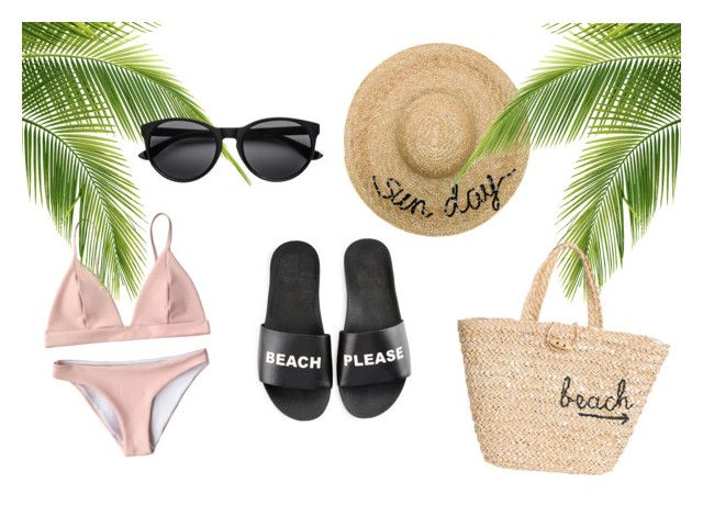 """BEACH PLEASE"" by kkerstinolsson on Polyvore featuring Eugenia Kim, Hat Attack and Schutz"