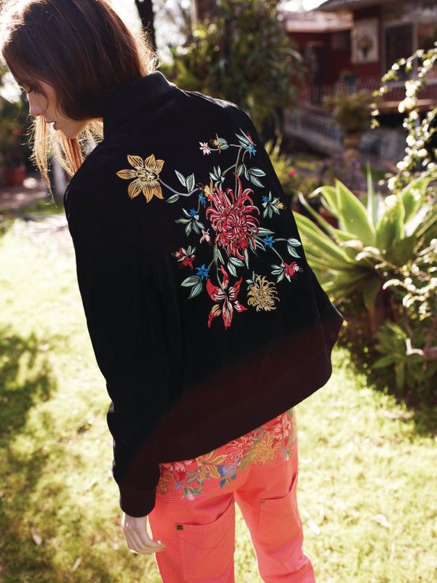 embroidered flowers #fashion