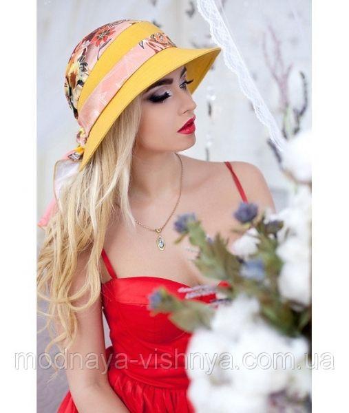 Женская летняя желтая шляпа с опущенными полями, цвета в ассортименте