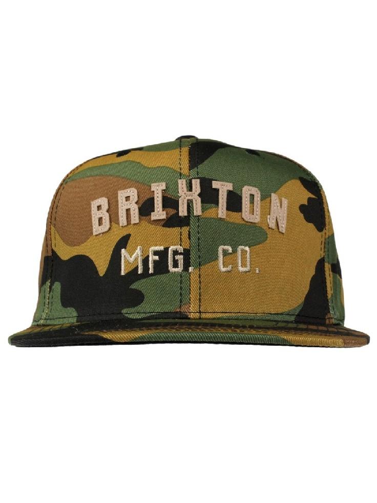 Brixton Clothing Arden Snapback Hat - Camo $28.00 #brixton #arden