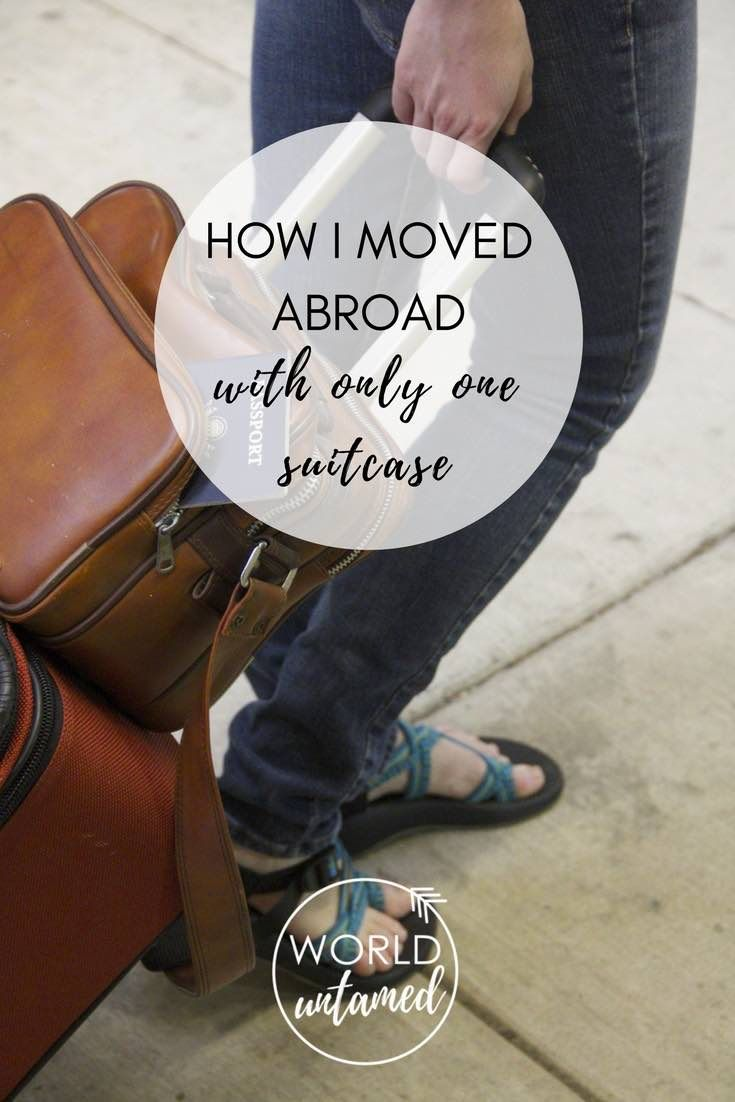 Find out how I moved abroad for almost a year with only one suitcase and a backpack. Includes a list of everything I packed!