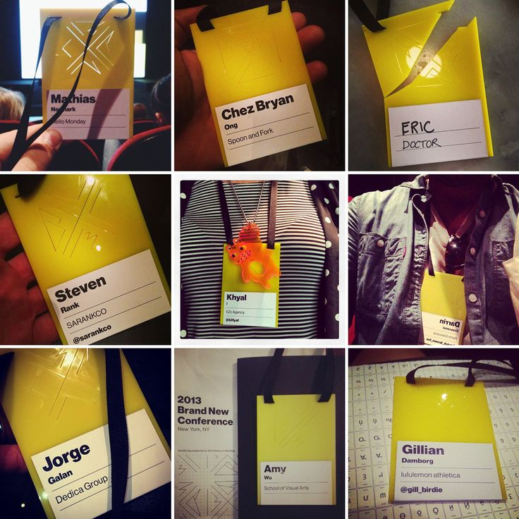 Love these Badges for a Brand New conference  New Logo and Identity for 2013 Brand New Conference by UnderConsideration