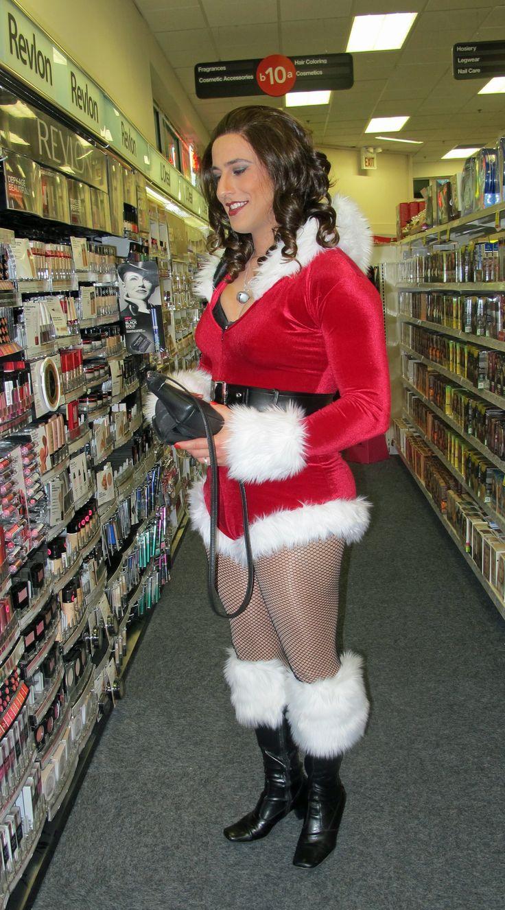 Crossdresser Diana Vandenburg Goes Shopping On Christmas. ProCrossdresser.com | Crossdresser ...