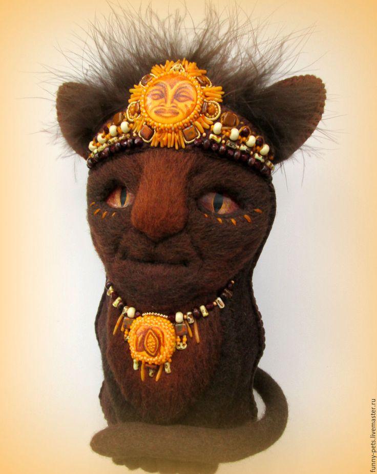 Купить Игрушка Кот Чоколатль (резерв) - авторская игрушка, кот, кот игрушка, коллекционные игрушки