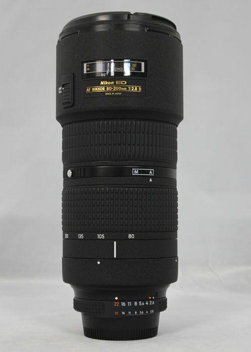 Uesd Nikon 80-200mm f/2.8 D ED AF Zoom Nikkor lens for nikon Digital SLR cameras