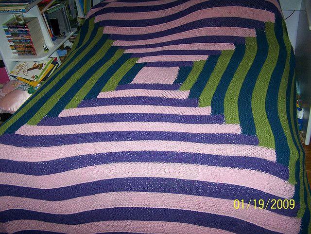 hourglass log cabin blanket | Flickr - Photo Sharing!