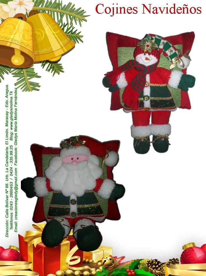 quien comparte molde de cojines navideños!!!