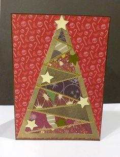 1-Carte de Noël ou nouvel an carte avec sapin sapin