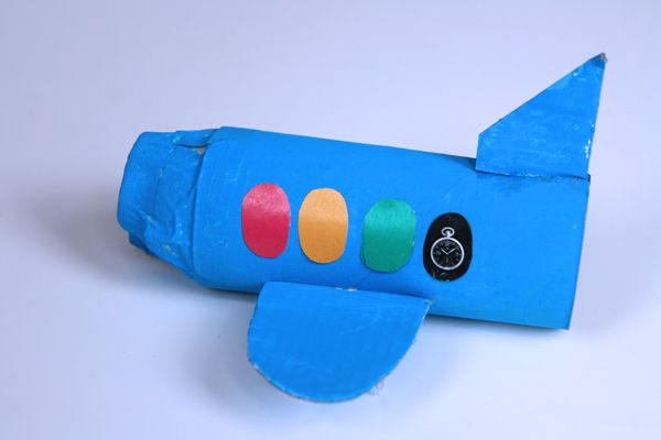 A new craft project to try...cute little airplane!