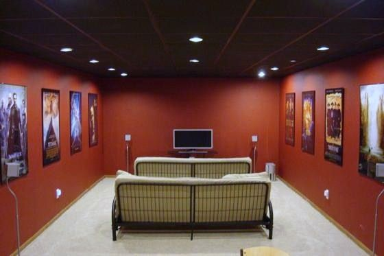 Small Basement Ideas | images of the theater is set up and pre wired for a 92 projection ...
