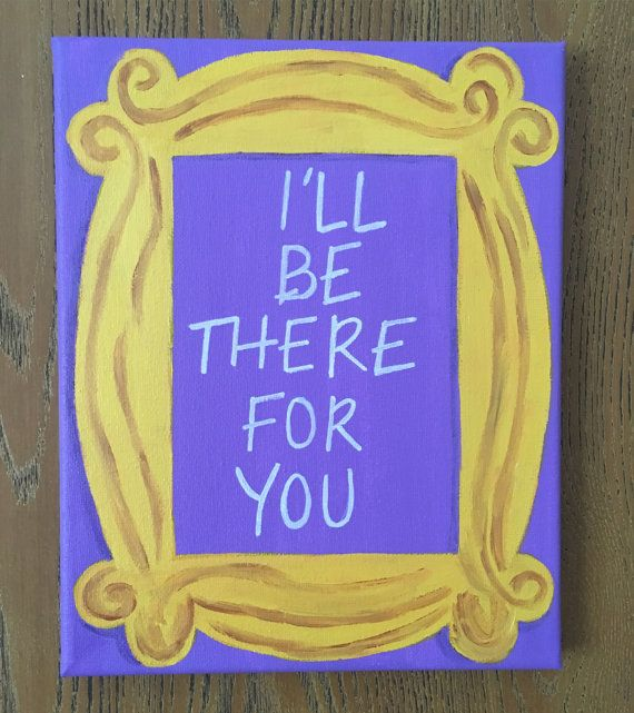 Because who doesnt just LOVE the show Friends?!  Handmade infamous yellow frame on light purple background reminiscent of Monicas apartment door in the 90s hit TV show Friends on 8 in x 10 in canvas with matching light purple painted edges. This canvas is perfect for the Friends lover in your life! This canvas goes well with most color schemes and would be a accent in any room or gallery wall space. Its the perfect gift for the sunflower lover in your life!  Canvas is ready to be hung or…