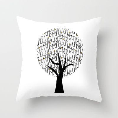 Tree Throw Pillow by Namia Design - $20.00