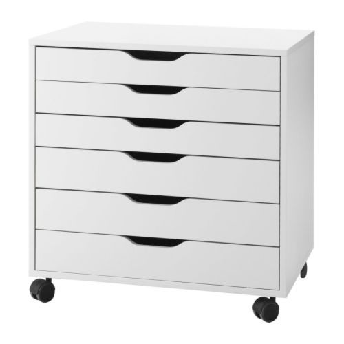 I AM GETTING THIS.  ALEX Drawer unit on casters IKEA The casters make it easy to move it around.