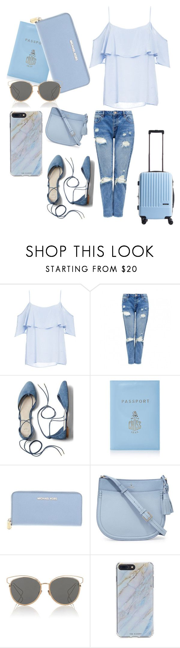 """""""everything is blue💙💙"""" by frzlptrdi ❤ liked on Polyvore featuring BB Dakota, Gap, Mark Cross, Michael Kors, Kate Spade, Christian Dior, Forever 21 and CalPak"""