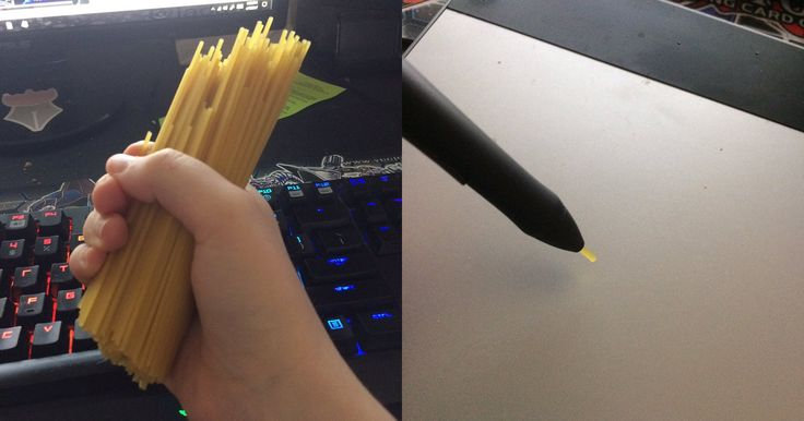 Cant Afford a New Wacom Stylus Nib? You Can Use Spaghetti in a Pinch
